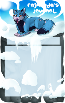 RainSoda's journal skin commission by Wolfvids