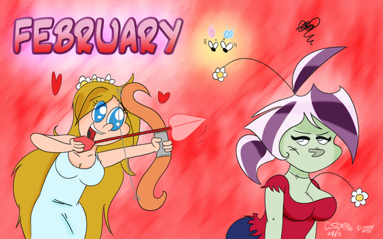 DA Calendar 2013 - FEBRUARY by QwertyChris