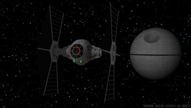 TIE Fighter and Death Star by STLegends