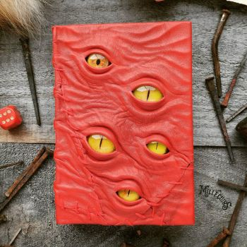 Watcher - Red leather patches by MilleCuirs