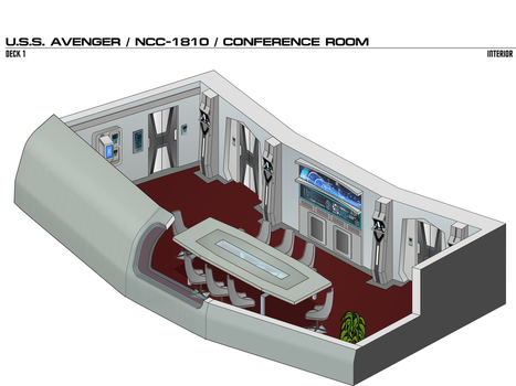 USS Avenger / Constitution-class / Conference Room by arvistaljik