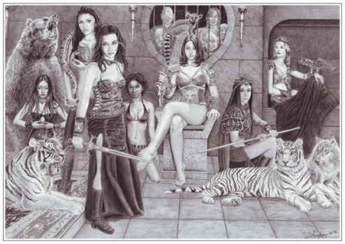 Warriors_by_fagashlil by monstersandmaidens