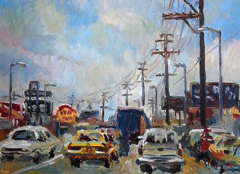 Los Angeles Street by Art-deWhill