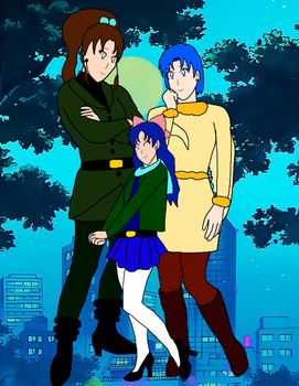 Makoto,Ami and Miki by LeoStar0012