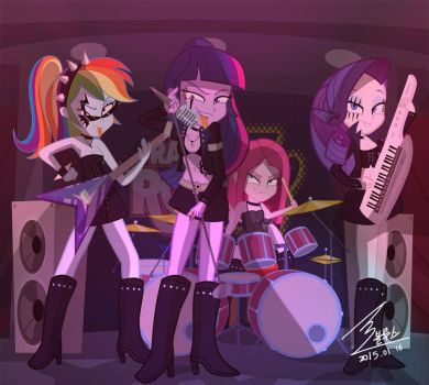 MLP heavy metal by 0Bluse