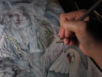 Nature's divinity work in progress by Artist-AbigailMarie