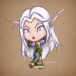 Chibi Night Elf Druid by punziebelle