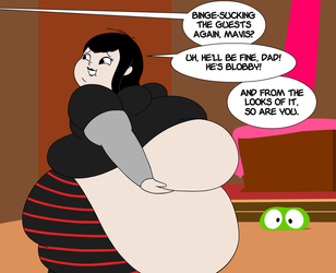 FAT: Mavis after taking her vampire traits too far by Maxtaro
