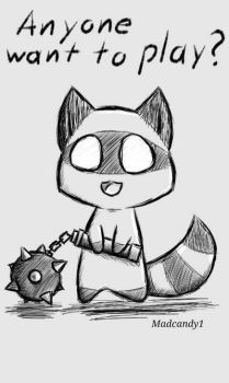 Raccoon  by Madcandy1