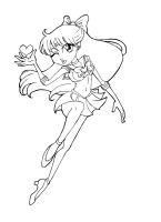 :LINEART: Sailor Venus Chibi by punkydumplin