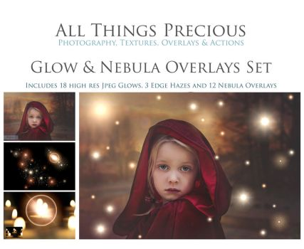 Fairy Glows and Nebula Overlays by AllThingsPrecious