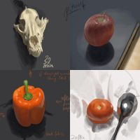 live stilllifes on my desk by enonea