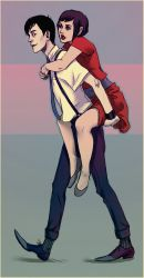 Piggy Back Ride by andrahilde