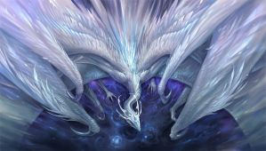 White Crystal Dragon by sandara