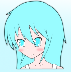 Blue hair girl by UnknownXz9