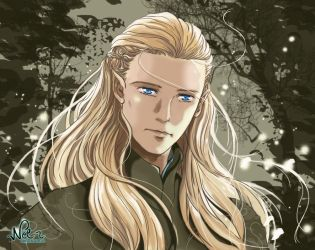 Legolas Greenleaf - fully digital by Neldorwen