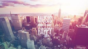 #Wallpaper - Music Makes Me Happy by Yankeey