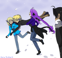 SS: Snowball Fight by NuciComs