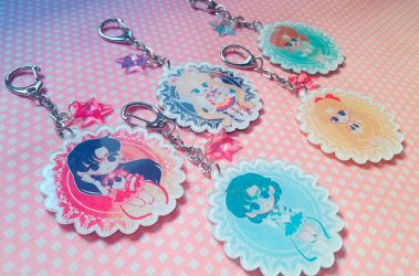 Sailor Moon Keychains by Nowii