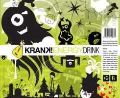 KRANK Energy Drink package by wiz24