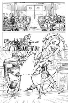 Harley Quinn Origin Story in Secret Origins #4 by StephaneRoux