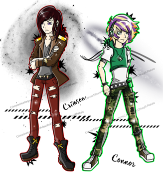 Connor and Crimson Yugioh Character's by Gomamon4life