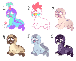 (sold) Sad Sea Puppies Adopts SET PRICE [SALE] by royalraptors