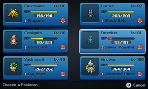 Pokemon - Selection Screen (mockup) by Fraot