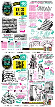How to draw BRICKS, BRICKWORK and WALLS tutorial by STUDIOBLINKTWICE