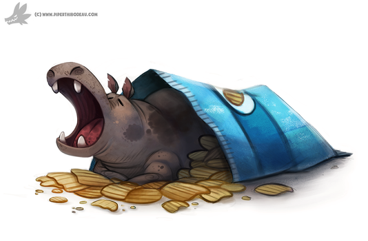 Daily Painting #924. North American House Hippo by Cryptid-Creations