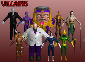 Villains Marvel Heroes XNALara 2 by Xelandis