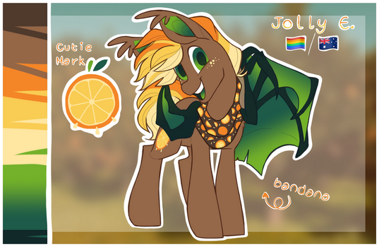 Jolly E. | OC - Reference Sheet by HiccupsDoesArt