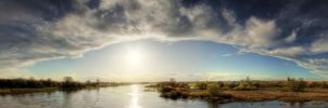 Panorama Elbe in Spring 10 HDR by daexo