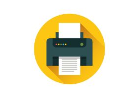 Flat Printer Icon by superawesomevectors