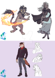 September Commissions by Raijin-Pooch