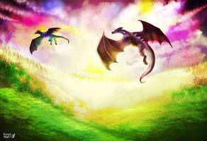The place where dragons fly away by FuzzyMaro