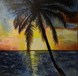 Tropical Sunset by Launadoon