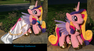 Feathered Wings Wedding Cadance Plushie by The-Crafty-Kaiju