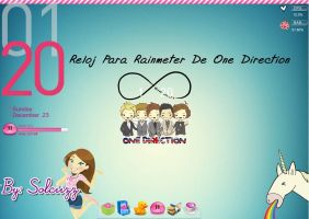 Reloj de One Direction Skin Para Rainmeter by Solciizz