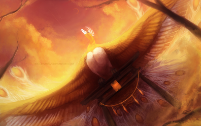 Ho-Oh: Heart of Gold by Ink-Leviathan