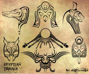 Egyptian Tribals by ShiftyRonin