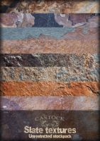 Slate textures by CAStock