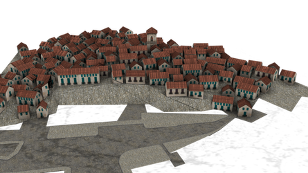 background cut-out town 3d png by madetobeunique