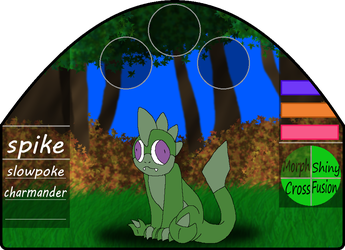 Spike | male | slowpoke/charmander by millemusen
