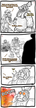 Junkrat And Roadhog Comic Part 1 by Frosted-Monster