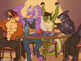 COMMISSION - Game Night by Zummeng