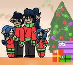 Bleu Family Christmas by KoyX3