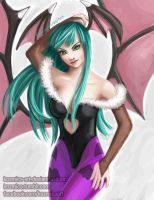 Morrigan Aensland (Dark Stalkers) Pin Up by kozmica64
