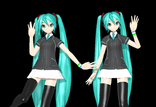 PDA/PDAFT Miku Family Mart 70 wacthers Gift DL by TheZoiioBR