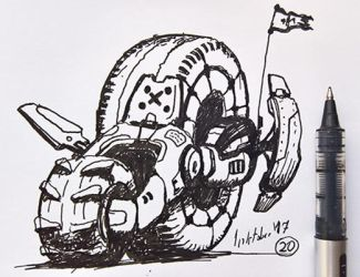 #20 Tractor Inktober 2017 by Iggy-design